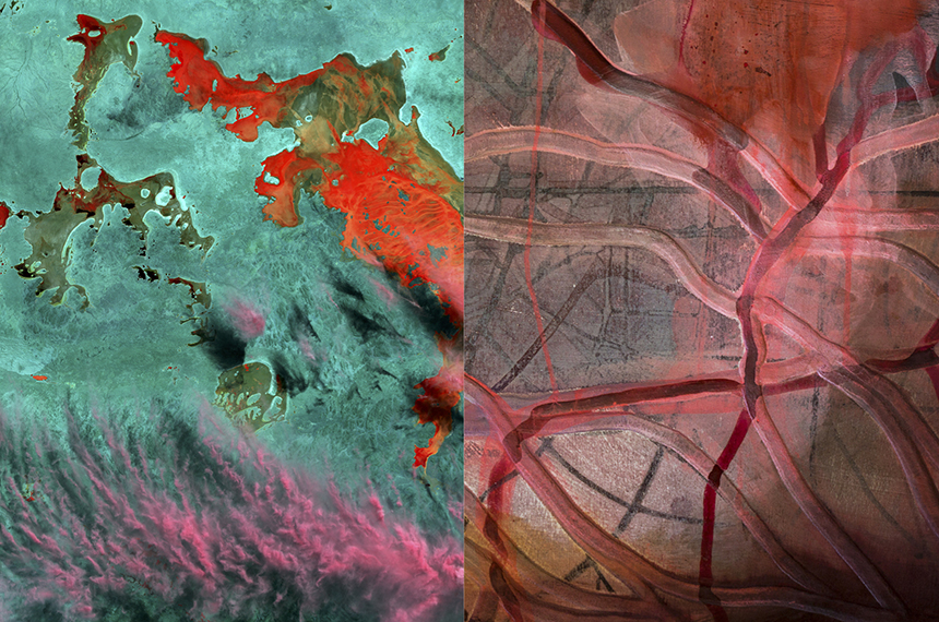 Artists Give A New Perspective on Australia, from 700km above the Earth